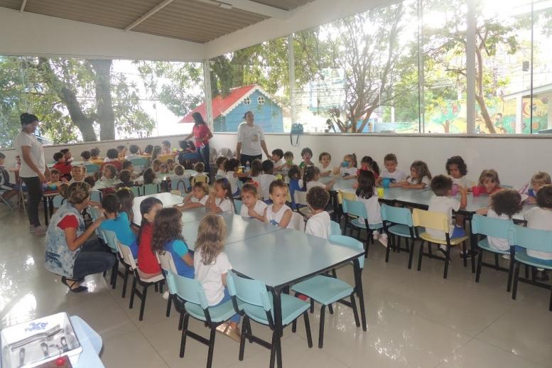 Hoje foi dia de festa aqui na Academia da Criança, comemoramos o aniversário das crianças de janeiro e fevereiro!