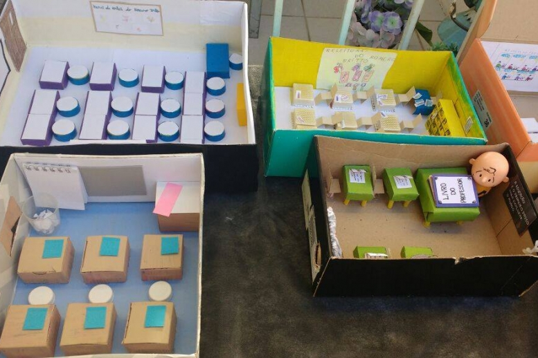 Maquetes da sala de aula - Fundamental