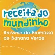 Brownie de biomassa de banana verde